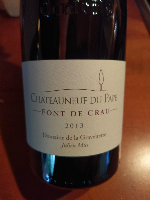 Chateauneuf du Pape Font de Crau